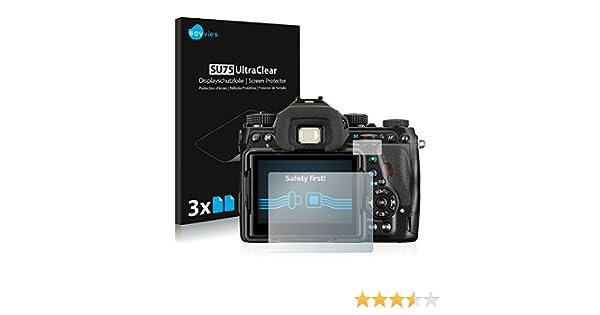 savvies 6-Pezzi Pellicola Protettiva Compatibile con Pentax K-70 Protezione Schermo Trasparente