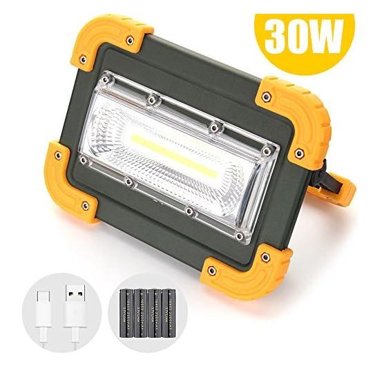 30W Wiederaufladbar Solar LED Flutlicht Baustrahler Arbeitsleuchte Scheinwerfer