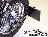 Seitlicher Kennzeichenhalter schwarz Yamaha XV 535 Virago, Yamaha XV 750 - 1100 Virago mit TÜV Teilegutachten