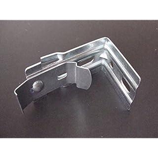 Amazing Drapery Hardware Jalousie-Halterungen für vertikale Jalousien, mit Clips, Stahl, 3 Stück