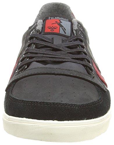 Hummel - Slimmer Stadil Oiled Lo, Sneakers, unisex Nero (Black (Black/Ribbon Red/Castle Rock))