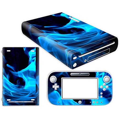 DAPANZ Vinyl-Aufkleber für Nintendo Wii U Konsole und Controller, Blaue Flamme