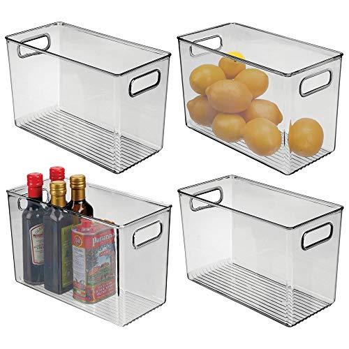MDesign Juego 4 fiambreras frigorífico - Cajas plástico