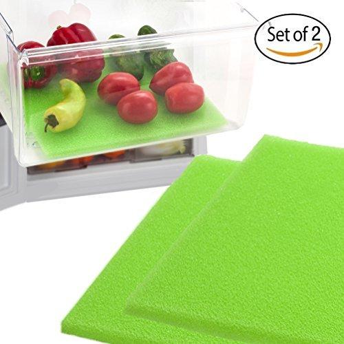 Dualplex Fruit & Veggie Life Extender rutschsicher für Kühlschrank Regale (2Pack)-verlängert die Lebensdauer Ihrer erzeugen & verhindert Verderb, 38,1x 61cm Life Extender