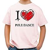 I love Pole Dance Fun Kids Shirt_rosa_158 / 164