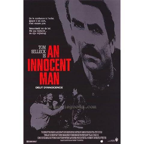 Un hombre inocente Póster de película Belgian en 11 x 17 - 28 cm x 44 cm Tom Selleck recambio para Murray Abraham Laila pájaros de onneke Van waardenburg Rasche Richard Young David Badja (Medu)