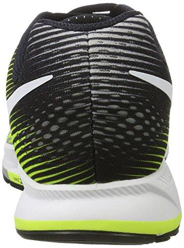 Nike Air Zoom Pegasus 33, Chaussures de Running Compétition Homme Multicolore (Silber Matt/weiß/volt/schwarz)