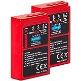 2x BAXXTAR PRO-ENERGY Batterie pour Olympus BLS-5 BLS-50 (1100mAh) avec Chip technology - Intelligent battery system pour Olympus PEN E-P3 E-PL2 E-PL3 E-PL5 E-PL6 E-PL7 E-PL8 E-PM1 E-PM2 -- OMD E-M10 Mark II Stylus 1 1s