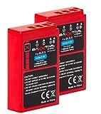 2x Baxxtar PRO Energy batería para Olympus BLS-5 BLS-50 (de 1100mAh) con Infochip (nueva generación 100% compatible) a Olympus Stylus 1 1s PEN E-PL2 E-PL3 E-PL5 E-PL6 E-PL7 E-PL8 E-P3 E-PM1 E-PM2 -- OMD E-M10 E-M10 Mark II