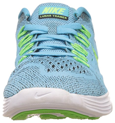 Nike Wmns Lunartrainer, Scarpe sportive, Donna Clearwater/Flsh Lime-Blk-White