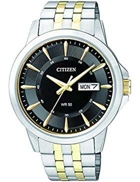 Citizen Herren-Armbanduhr Analog Quarz Edelstahl BF2018-52EE