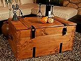 Holzkiste Holztruhe Couchtisch Kaffeetisch, shabby chic, Tisch, Truhe, Kiste Länge: 80 cm Höhe: 45 cm Tiefe: 50 cm