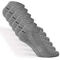 Snocks Herren & Damen Sneaker Socken (6x Paar) Schwarz, Weiß, Grau – Kurze Sneakersocken Sport & Alltag –Baumwolle