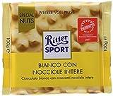 Ritter Sport Ciocco Bianco con Nocciole Intere - 100 g