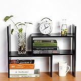 Desktop Organizer, Freestanding Desk Organizer Bookcase DIY Table Storage Rack Adjustable Display Shelf