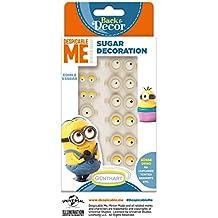 Günthart BackDecor Zuckeraugen Minions   Ich - Einfach unverbesserlich   Minions Dekor aus Zucker   12 Minions Zuckeraugen