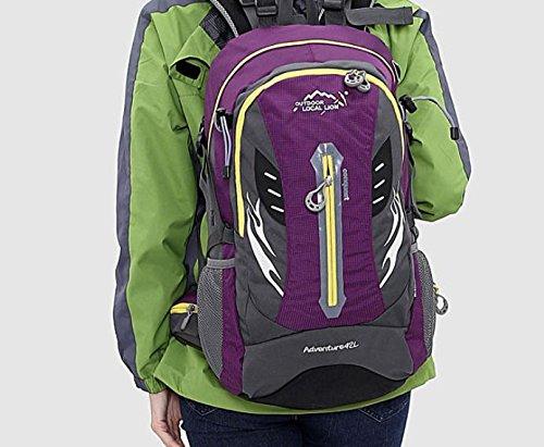 ROBAG Escursioni Outdoor zaino escursionismo campeggio moto borsa borse a tracolla per uomini e donne 42L , orange purple
