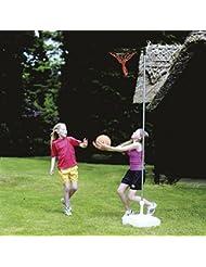 Harrod poste de canasta para Netball, rust-proof Post, anillo, de canasta de Base de plástico de 60 juego de