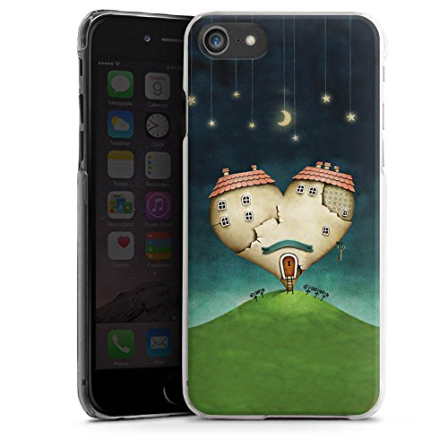 Apple iPhone X Silikon Hülle Case Schutzhülle Liebe Herz Haus Hard Case transparent