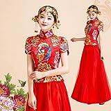 XC Hochzeitskleid Bild Chinesische Braut Hochzeit Roten Kleid Rock Drachen und Phoenix Brautkleid,EIN,XXXL