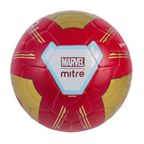 Mitre Ironman - Balón de fútbol para niños, Color Rojo y Dorado, 5 Unidades