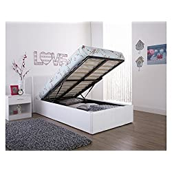 Double Size Bed Frame With Lift Up Storage