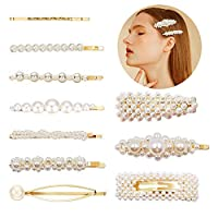 Pearl Hair Clips for Girls Bling Hairpins Headwear Barrette Elegant Artificial Pearl Clips Styling Tools Accessories for Weddings Birthday Valentines Day Gifts