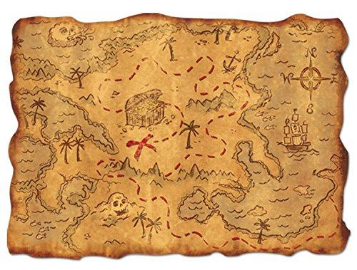 Beistle Plastic Treasure Map Party Zubehör (1 Stück) (1 / Pkg) (Schatzkarte Echte)