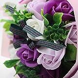 Fleurs Bouquet de Mariée Bouquet Rose Bouquet Bouquet de Mariage Savon Fleur Idées Surprise de Vacances (27cm * 22cm) (Color : 2)...