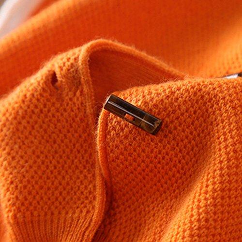 Giacca a maniche lunghe con cardigan in cashmere a girocollo primavera donna Nero