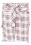 Fresh Made Damen Bermuda-Shorts kariert | Bequeme kurze Hose aus reiner Baumwolle white M