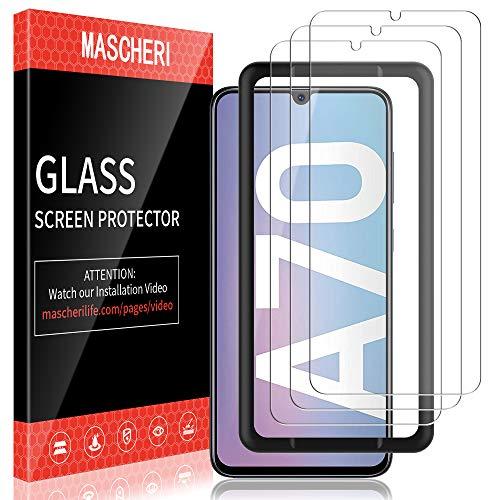 Mascheri Verre Trempé Pour Samsung Galaxy A70 Protégé écran 3 Pièces Cadre De Positionnement Film Ecran De Protection écran Pour Samsung A70