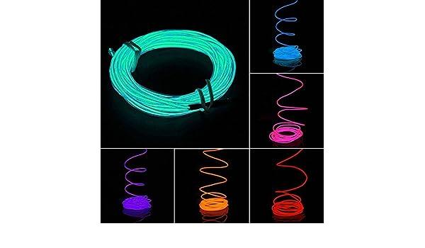 HuntGold 5 M Flexibles LED Neonlicht Glühen: Amazon.de: Elektronik