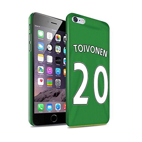 Offiziell Sunderland AFC Hülle / Glanz Snap-On Case für Apple iPhone 6S+/Plus / O'Shea Muster / SAFC Trikot Away 15/16 Kollektion Toivonen