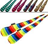 Flames N Games FUNKY® Pro Socken-Poi (5 Entwürfe) Sock Poi *keine Bälle inkl. (Zebbra)