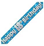 Islander Fashions Blue Holographic alles Gute zum Geburtstag Banner Fancy Birthday Party Dekoration Banner 18. 9. F��e