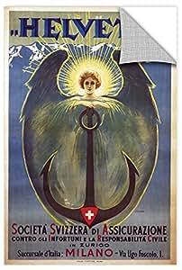 Umberto Boccioni's Helvetia Poster, Removable Wall Art Mural 12x18