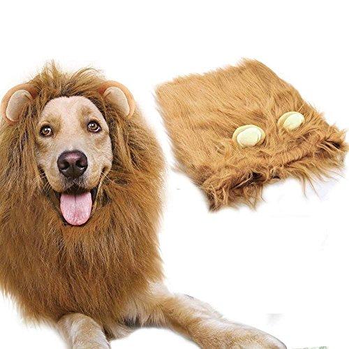 Azornic Löwe Mähne Kostüm Big Dog Löwe Mähne Perücke Haarteil mit ()