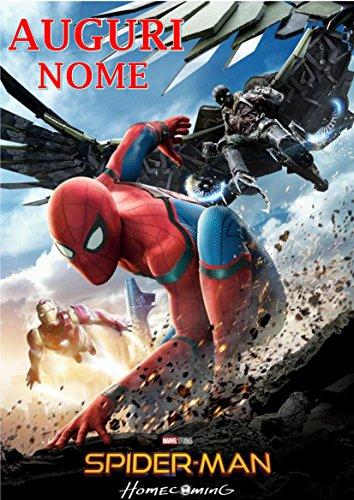 Spiderman Home Coming Herren Spinne Waffel in Ostia für Kuchen personalisierbar-Kit N ° 8cdc- (1Waffel in Ostia Abmessungen Folio A4210× 297mm)
