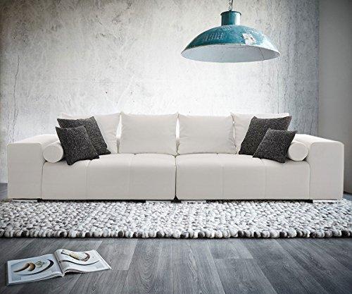 Bigsofa Marbeya 285x115 cm Weiss inklusive Kissen