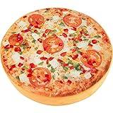 Small Foot Design Pizza Sitzkissen, Stoff, Mehrfarbig, 38.5 x 38.5 x 7 cm
