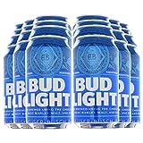 BUD LIGHT - Dosenbier 24 x 355ml amerikanisches Bier, American Beer | Das NO.1 aus den USA als Original Importware, auch als perfektes Bier Geschenk für Männer