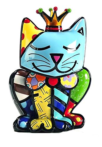 ROMERO BRITTO Figur - Katze Royalty - Pop Art Kunst aus Miami, limitierte Auflage (Britto Katze Figuren)