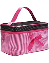 Tefamore Place Bow Stripe Bag Cosmetic[rose]