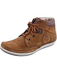 Marshal Spit Zen Men's Tan Chikoo Genuine Leather Boots