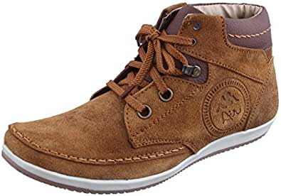 Marshal Spit Zen Men's Tan Genuine Leather Boots 10 UK