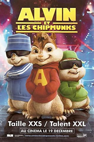 Alvin and the Chipmunks Plakat Movie Poster (27 x 40 Inches - 69cm x 102cm) (2007) French E