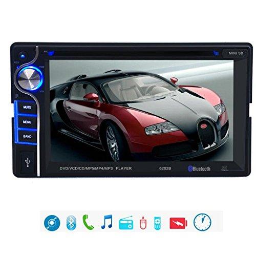 Tongshi Doble 2 Din 6.2 En Dash Cámara Estéreo de DVD Reproductor de CD Radio del coche de
