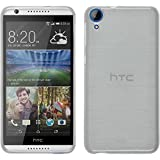Coque en Silicone pour HTC Desire 820 - brushed blanc - Cover PhoneNatic Cubierta + films de protection