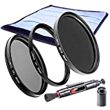 58mm Slim CPL Polfilter UV Filter Graufilter ND 16 | LUMOS Creative Kamera Objektiv Filter Set 58 mm